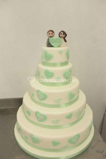 Wedding cake verde menta