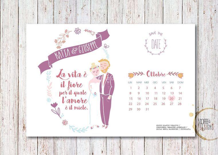 Save the date - Illustrazione