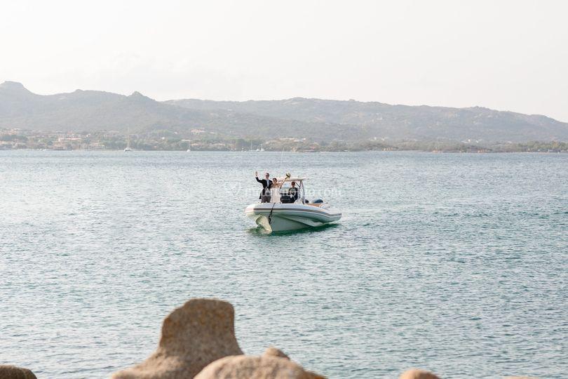 Arrivo Sposi via mare