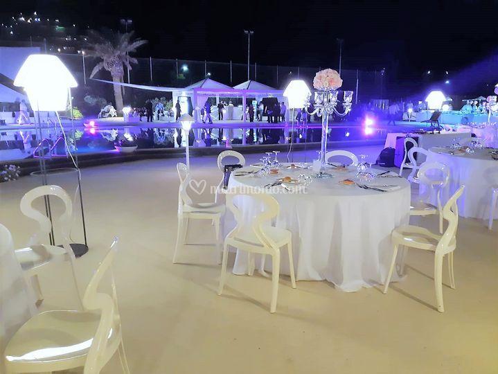 Wedding a bordo piscina