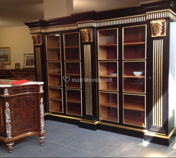 M i a mobili intarsiati artistici arredamento for Stile impero arredamento