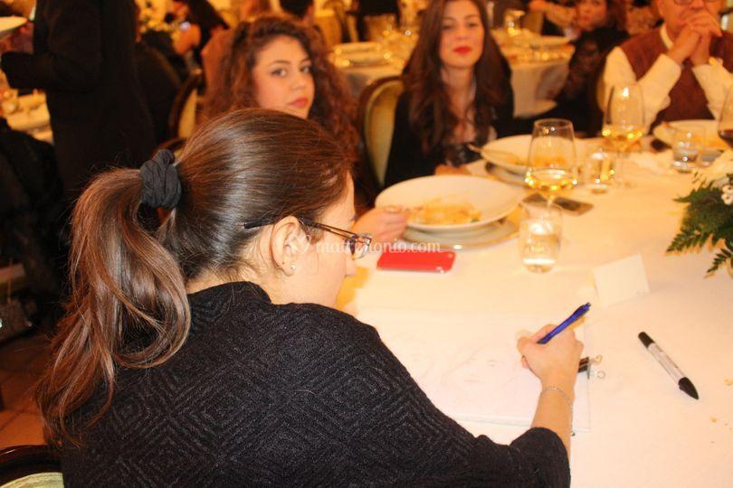 Caricature tra i tavoli