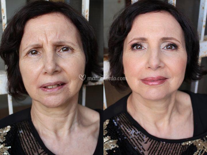 Prima e dopo mamma sposo