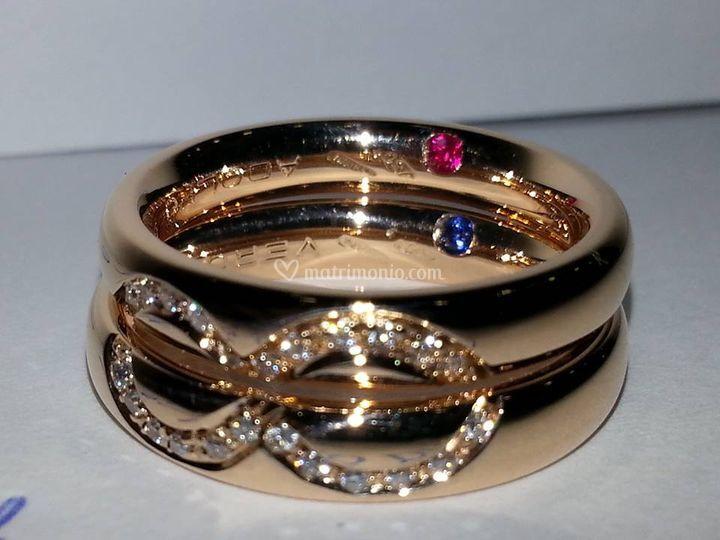 Fedi Infinito con Diamanti