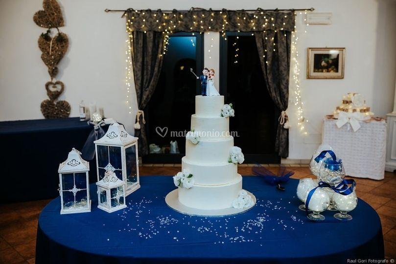 La torta in blu
