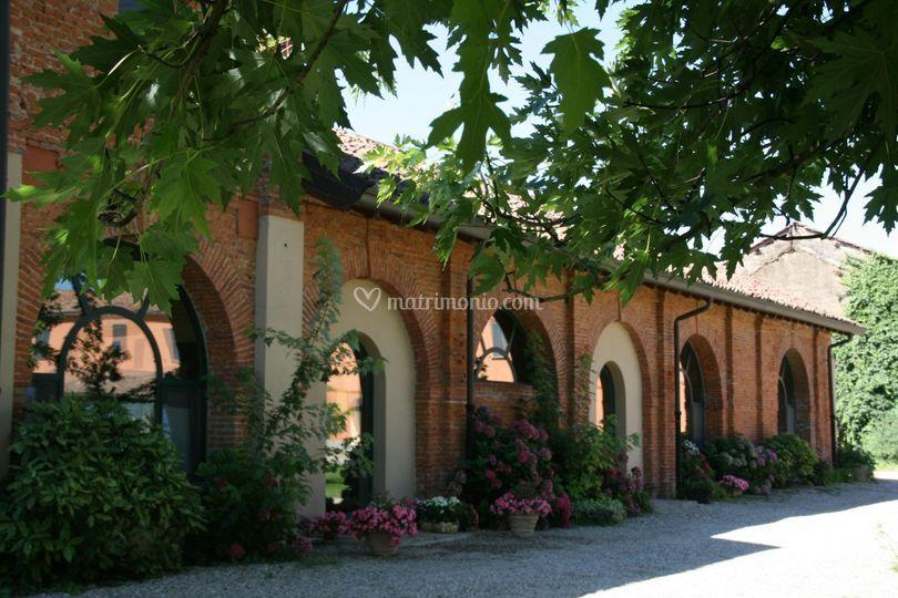 Il porticato del ex convento