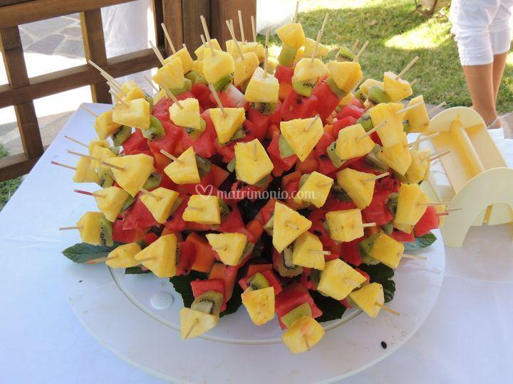 Gli spiedini di frutta