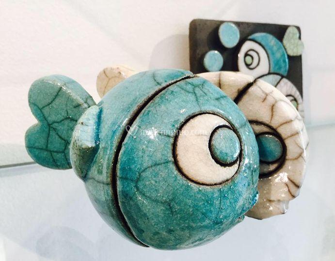 Fish, la ceramica raku