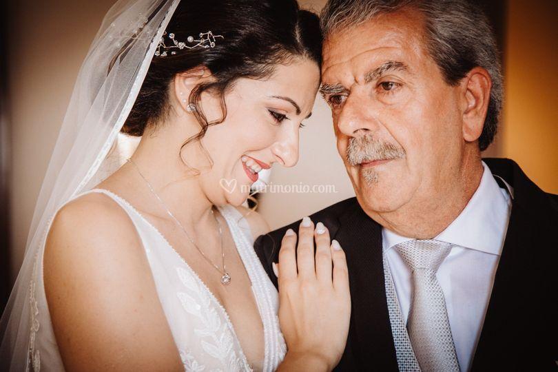 Con il mio papà.