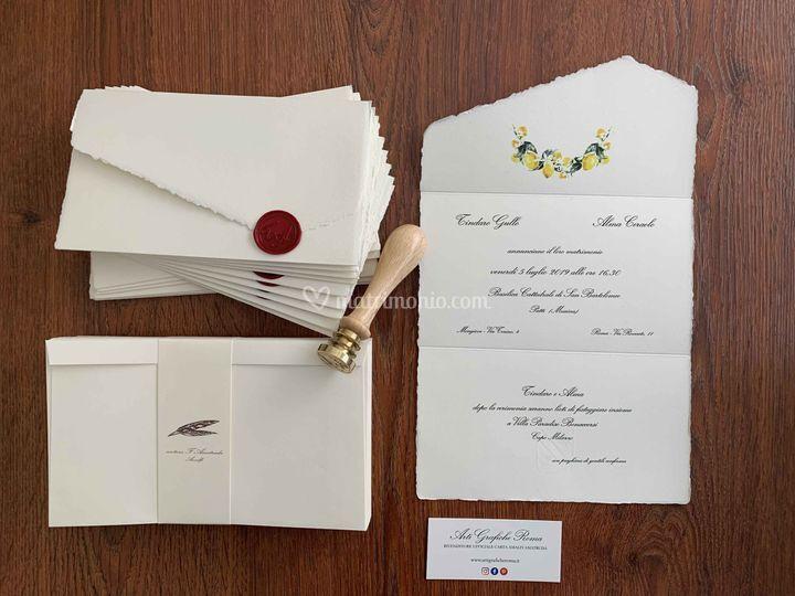 Carta Amalfi con Limoni