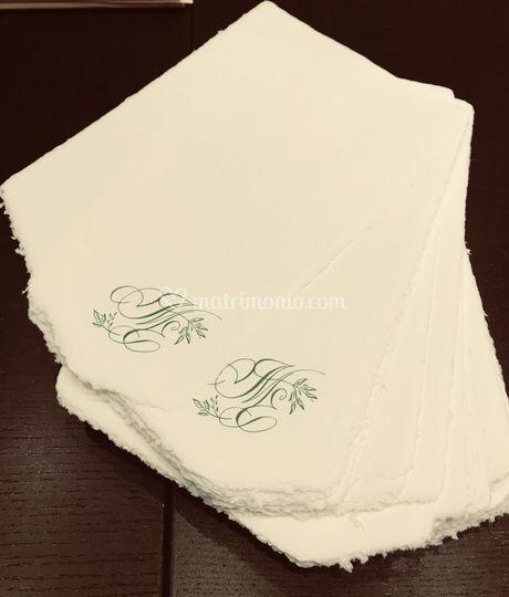 Stampa lettere scritte  a mano