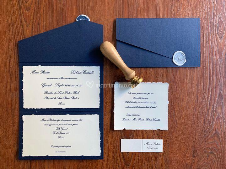 Carta Amalfi + Tintoretto blu