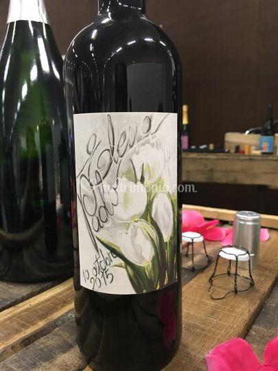 Bottiglia Floreale Matrimonio