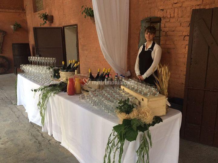 Buffet del bere rustico