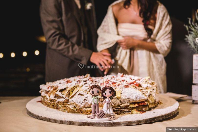 La torta nuziale: Millefoglie