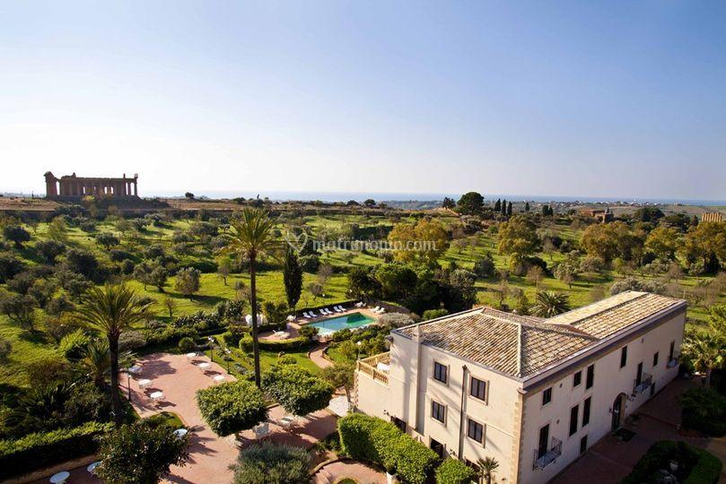 Panoramica della villa di Hotel Villa Athena