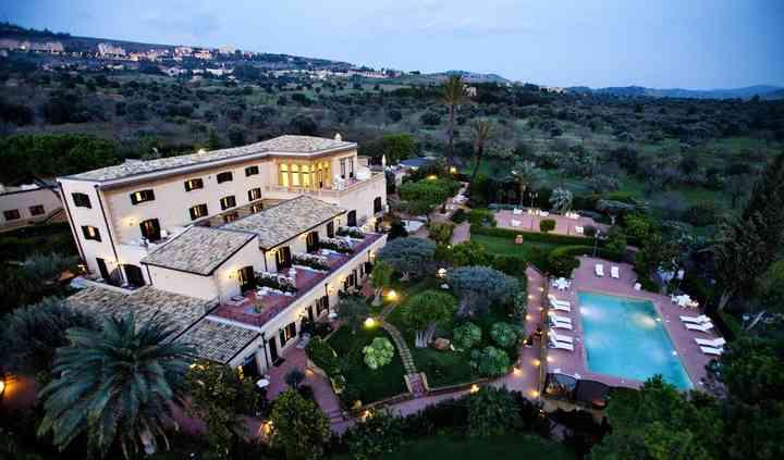 Panoramica della villa serale