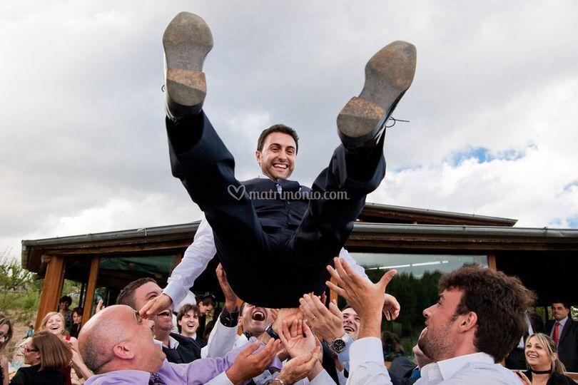 Il lancio dello sposo