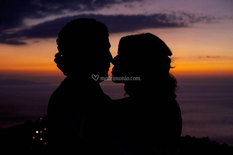 Il bacio al tramonto