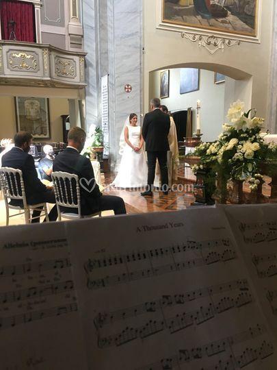 Arpa e soprano in chiesa