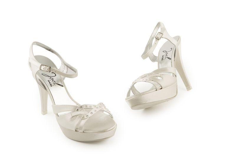 Sandali tacco alto in raso