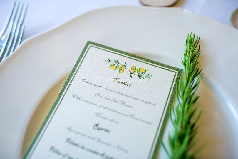 Green wedding country chic