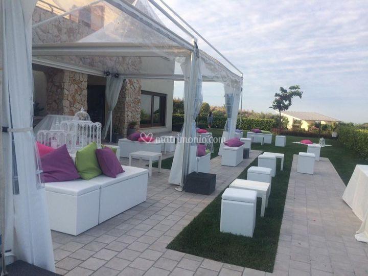 Pouf evento in villa