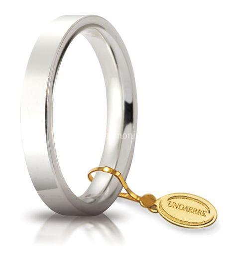 Fede oro bianco 3, 5 mm