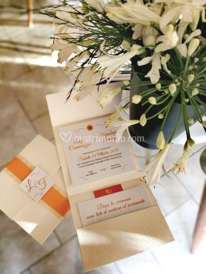 Matrimonio classico arancio