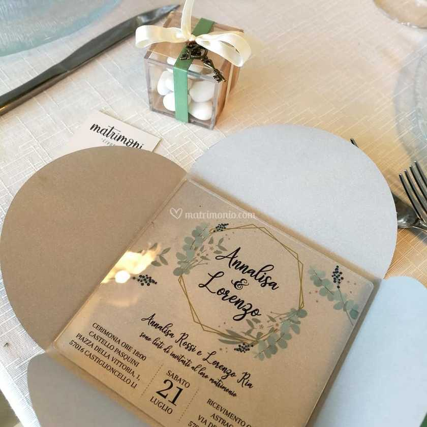 Partecipazioni Matrimonio Livorno.Partecipazione In Plexiglas Di Matrimoni Livorno Foto 2