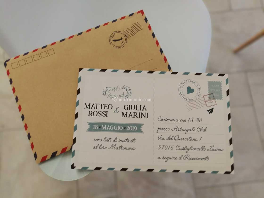 Partecipazioni Matrimonio Livorno.Partecipazione Tema Viaggio Di Matrimoni Livorno Foto 4