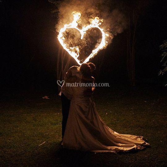 Spettacoli di fuoco per Sposi