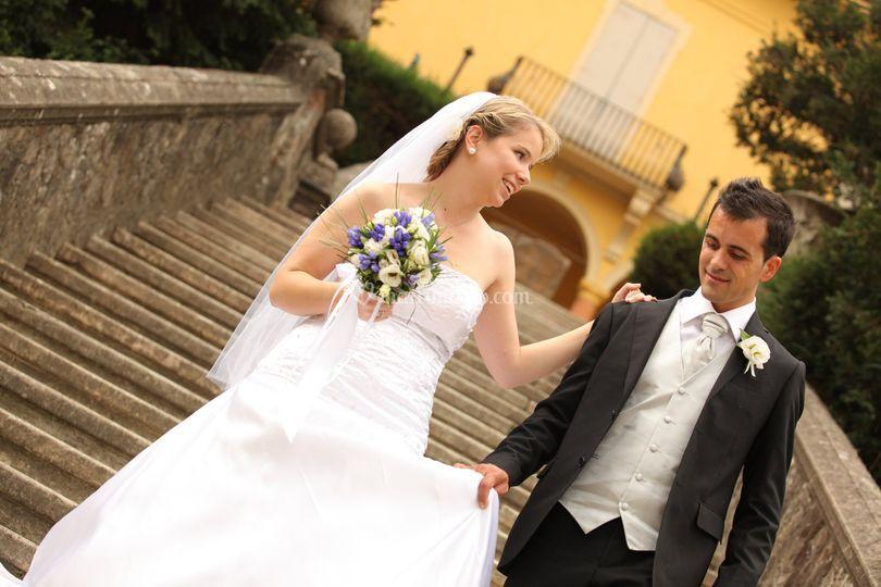 Lucia e Mirko scalinata