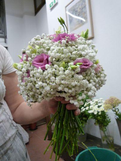 Bouquet Gypsofila E Lisianth Di Di Sana Pianta Foto 19