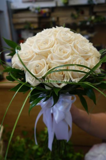 Bouquet di rose con punti luce