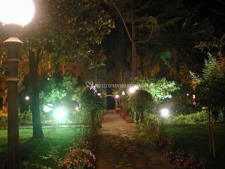 Parco Illuminato di sera