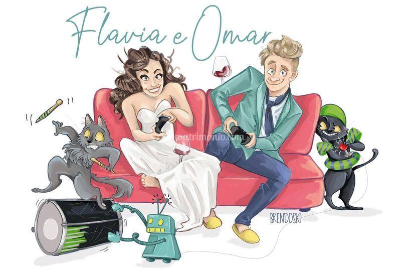 Flavia e Omar