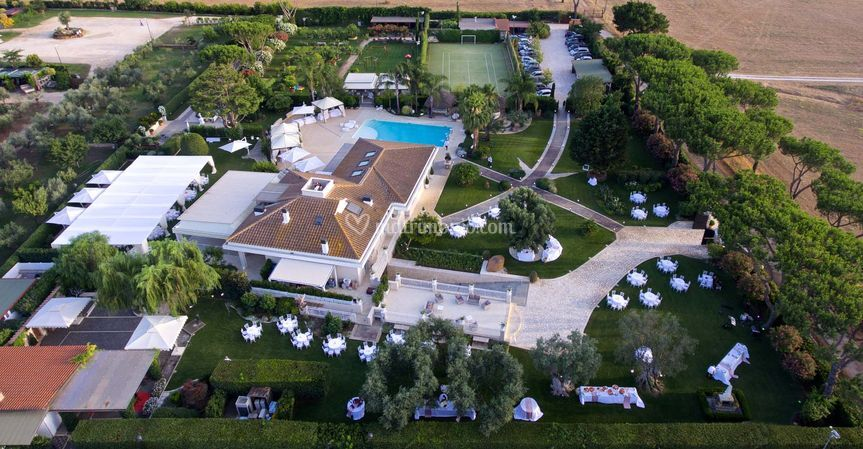 Villa demetra - vista aerea