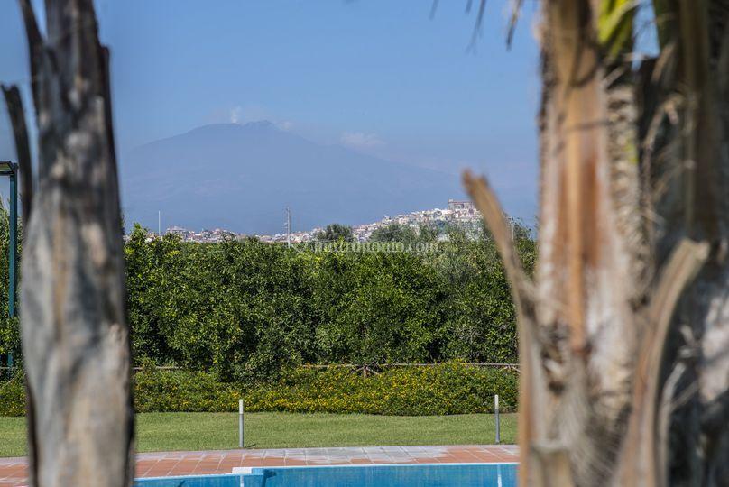 L'incantevole vista sull' Etna
