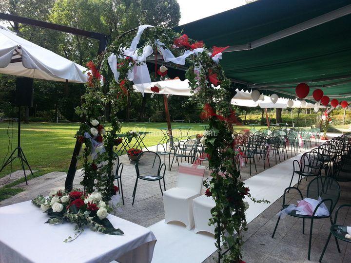 Allestimento nozze civili