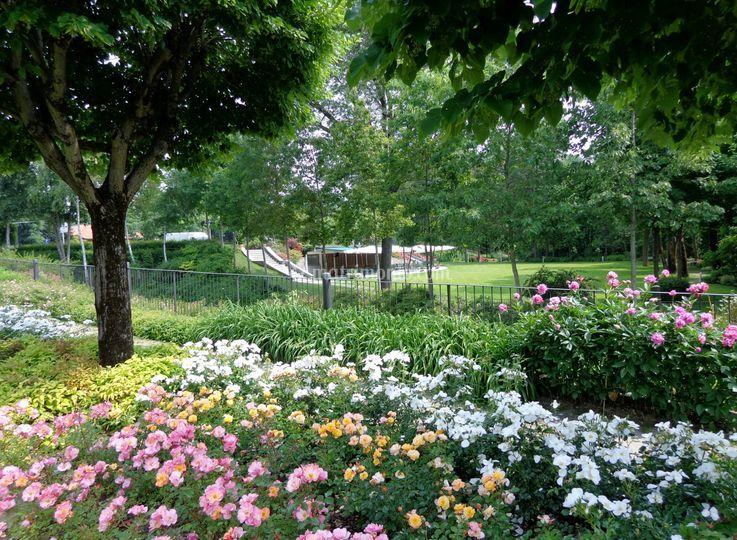 Croce di malta giardino fiori