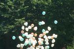 Palloncini e festa con foto