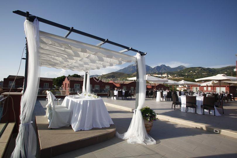 Matrimonio sul terrazzo panora