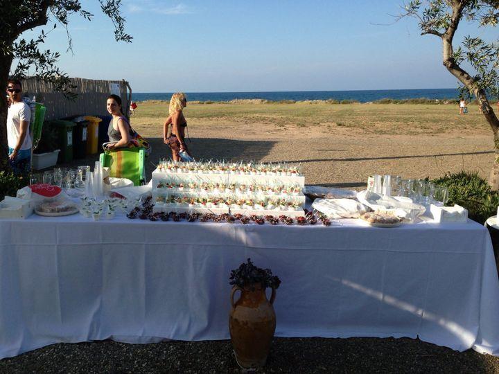 Buffet finger food in spiaggia
