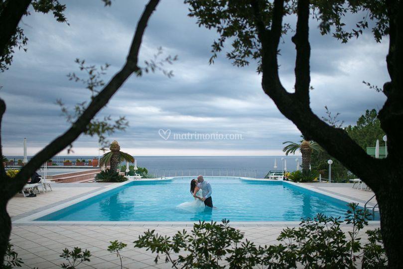 Wedding photography pool
