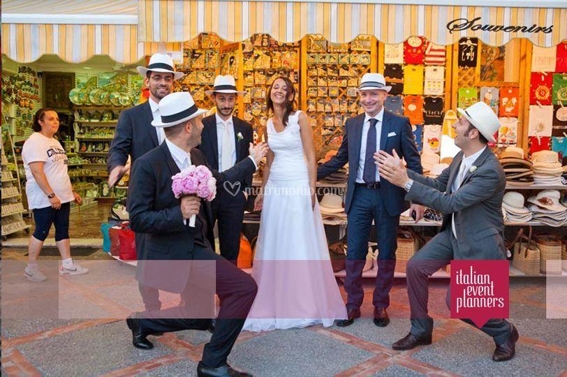 Matrimonio da sogno a Positano
