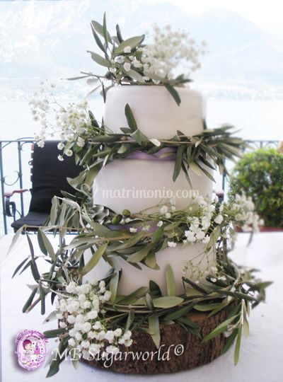 Olive tree wedding cake