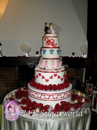 F&F wedding cake
