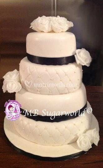 Green wedding cake 2