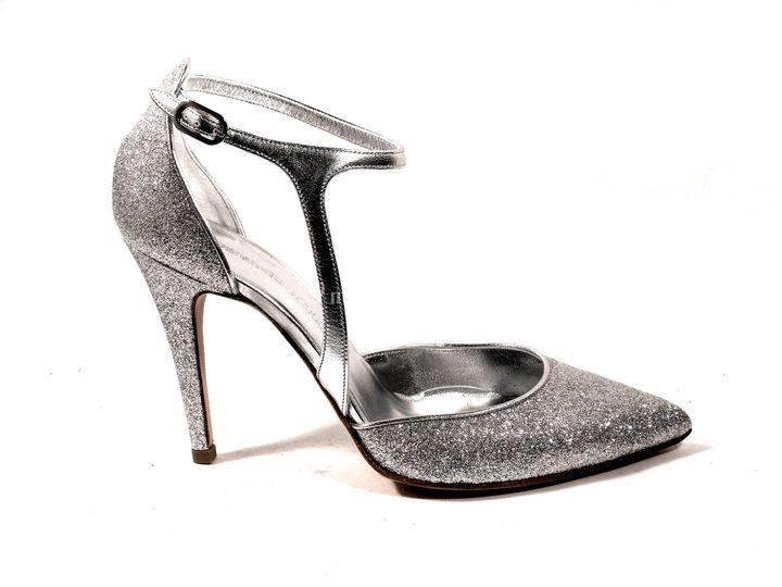 Spezzata in glitter argento
